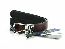 Polo Ralph Lauren Men's Belt Black Brown US Size 42 Leather Reversible $75 321