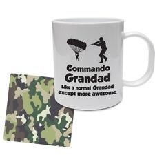 FUNNY Militare Tazza & Sottobicchiere Set-COMMANDO Grandad-Marine/Set Regalo dell'Esercito