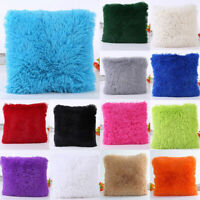 Soft Fur Plush Square Throw Pillow Cases Sofa Waist Cushion Cover Home Decor