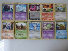 10 POKEMON Cards: English, Mixed Lot - Uncommon,  Common - Very Good Condition