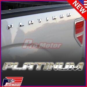 Chrome Platinum Letter F150 F250 Hood Trunk Bedside Nameplate Emblem Badge