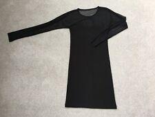 Black Long Sleeve Crew Neck Corset style Dress Forever 21 Size M
