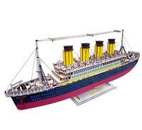 Assembly Kit DIY Education Toy 3D Wooden Model Puzzles Titanic Tourist Ship