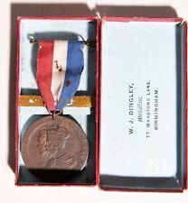 CORONATION MEDAL KING GEORGE V 1911 boxed
