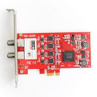 TBS 6205 DVB-T2 DVB-C Quad TV Tuner PCIe Card - Ideal 4 Tuner Freeview Card