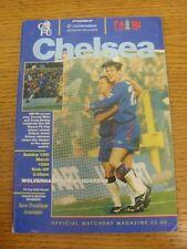 13/03/1994 Chelsea v Wolverhampton Wanderers [FA Cup] (Creased, Folded). Any fau