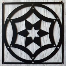 "Forever Yours Pattern - Barn Quilt - Black Metal 12"" x 12"" Quilt Block Sign"