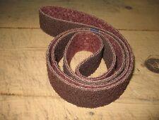 "1- 3M  2 x 72"" Medium (Maroon) non woven Scotch Brite surface conditioning belt"
