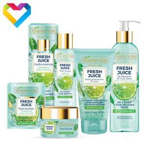 Bielenda FRESH JUICE Lime - Detoxifying Skin Care For Combination Oily Skin