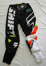 SHIFT RACING motocross pants mx adult 28 NEW faction mainline black white atv