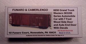 FUNARO & CAMERLENGO GRAND TRUNK WESTERN SINGLE SHEATHED BOXCAR KIT