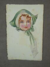 AQUARELLE début XXème: PORTRAIT D'ENFANT.