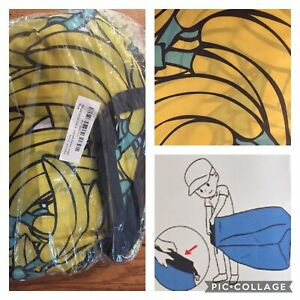 Lazy Chair Inflatable Lounger Sofa Indoor Outdoor Banana Print Carry Bag Sofa &