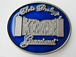 Elvis Presleys Graceland belt buckle the king of rock and roll.