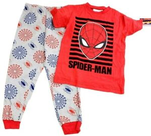 Marvel Spiderman Pajama Set T-Shirt Pants Size 10