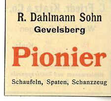 R.Dahlmann Sohn Gevelsberg PIONIER SCHAUFELN SPATEN SCHANZZEUG Trademark 1912
