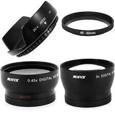Wide angle + Macro + 2X Telephoto lens kit + hood fo Fujifilm Finepix X100 X-100