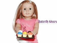6 Cupcake Eraser+ Serving Tray 18 in Doll Food For American Girl