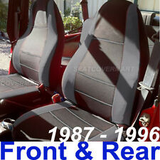 Jeep Wrangler 1987-96 YJ Neoprene Front & Rear Car Seat Cover Charcoal Grey 127