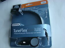 GRIFFIN TUNEFLEX AUX FOR IPOD NANO CAR CHARGER CRADLE STEREO