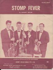 """JOHNNY DEVLIN  Rare 1963 Australian Only OOP Original Sheet Music """"Stomp Fever"""""""