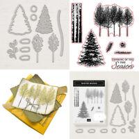 Xmas Trees Cutting dies& Stamp Seal Stencil Handmade Gift Card Scrapbook Album