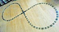 AMERICAN FLYER  27 PIECE FIGURE EIGHT  CLEANED  TRACK .. READY TO LAY