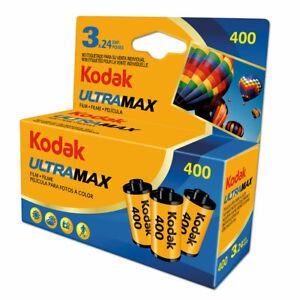 Kodak Ultra Max 400 35mm Colour Print Film - 135-24 - 3 Pack - Dated 2023