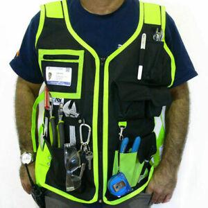 Working Tools Holder Vest Builder Electrician Carpenter Combat Cargo Vest Men UK