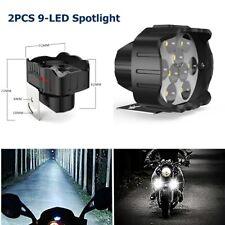 2xCar Motorcycle 9LED Headlight Lamp Fog Light Spotlight Driving Auxiliary Light