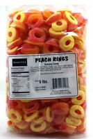Gummi Peach Rings 5lb Bulk Deal - gummy candy