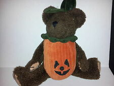 """Boyd's Bear Halloween Removable Pumpkin Costume Suit Plush Toy 11"""" Jointed Brown"""