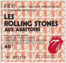 Rolling Stones ticket Pavillion De Pantin Paris 04/06/76  #007128