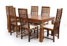 Stylish Wooden Dining table with 6 Cushioned chair  furniture set