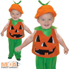 Halloween Pumpkin Child Ages 1-3 Years Fancy Dress Toddler Costume Kids Outfit