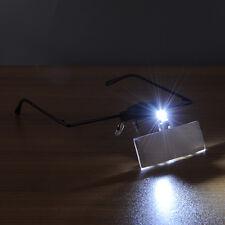 HOT Eyelash Extension LED Light Magnifying Spec Glasses Hands Free Magnifier