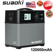Suaoki 400Wh Solar Power Generator Supply 4-Usb Ac&Dc Inverters Energy Storage