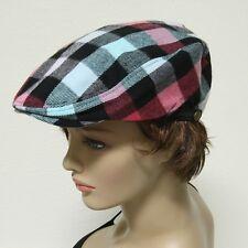 Multi Color Fashion Plaid Newsboy Flat Golf Ivy Stretch Fits Most Hat Cap Unisex