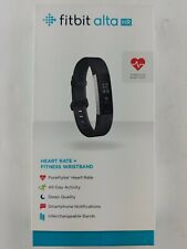 Fitbit ALTA HR Heart Rate Fitness Wristband Black Large Fb408sbkl new open box
