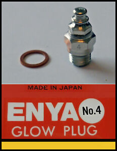 10x ENYA No.4 Glow plug (med temp) Good for 2 stroke and 4 stroke engines