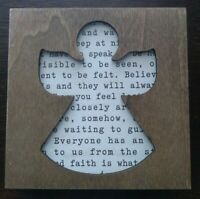 New Cut Out Angel Inspirational Wooden Box - Home Decor or Gift