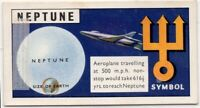 Neptune Planet Solar System Space Telescope  Vintage Trade Ad Card