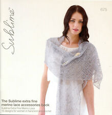 Sublime extra fine merino lace accessories book 675-15 Knitting Crochet Patterns