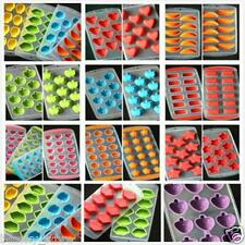 Silicone Ice Cube Jelly Chocolate Fruit Cake DIY Mould Mold Tray Pudding Maker