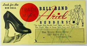 Vintage Ball-Band Footwear Ariel Rubbers Advertising Blotter The Young Mens Shop