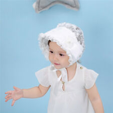 Baby Girls Princess Flower Lace Bowknot Bonnet Beanie Summer Sun Hat Cap shan