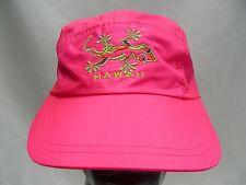 HAWAII - PINK - LIGHTWEIGHT NYLON - ADJUSTABLE SLIDER BALL CAP HAT!