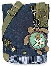 New Chala Handbag Patch Cross-body SEA TURTLE Denim Navy Blue Bag Cute gift