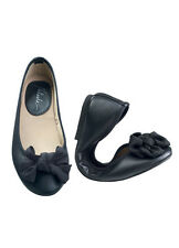 Natasha Black Doll Shoes Ballet Flats w/ Flex Sole