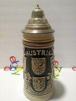 RARE Austria Beer Stein Original King 3 VERY NICE